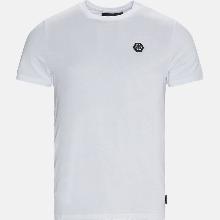 Round Neck Logo T-shirt - T-shirts - Regular - Hvid