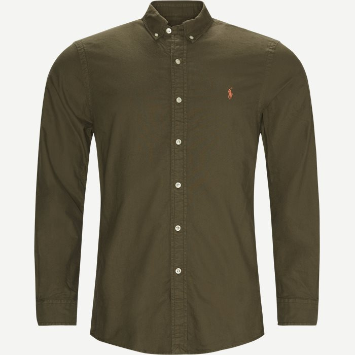 Button-Down Oxford Skjorte - Skjorter - Slim - Army