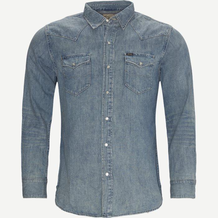 Hemden - Jeans-Blau