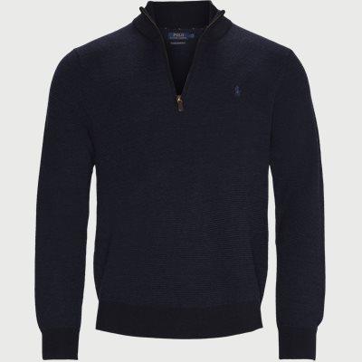 Wool Half-Zip Jumper Regular | Wool Half-Zip Jumper | Blå