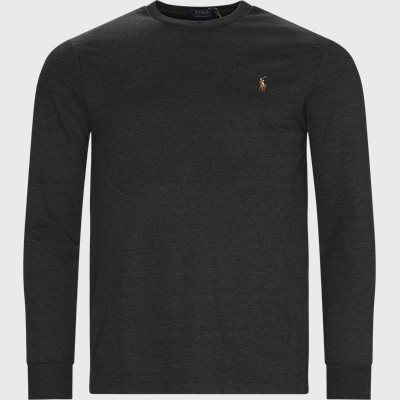 Crew Neck Langærmet T-shirt Regular | Crew Neck Langærmet T-shirt | Grå