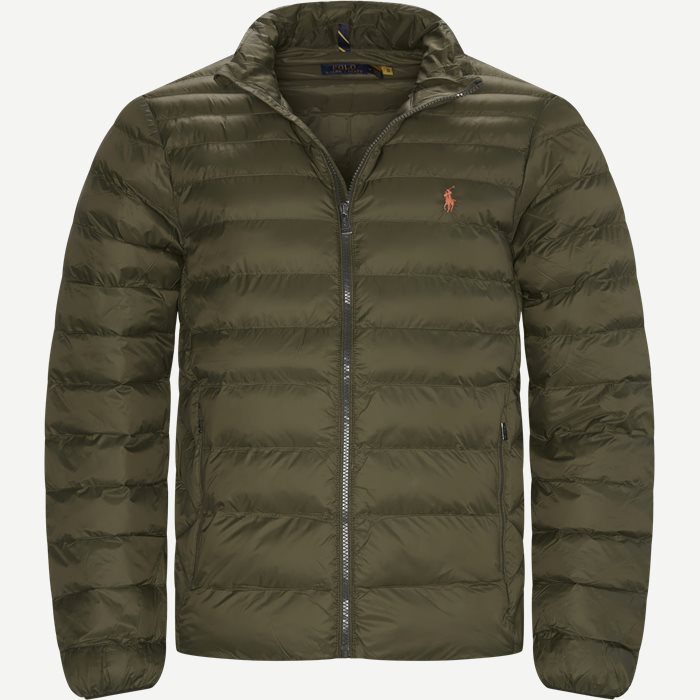 Water Repellent Logo Jacket - Jakker - Regular - Army