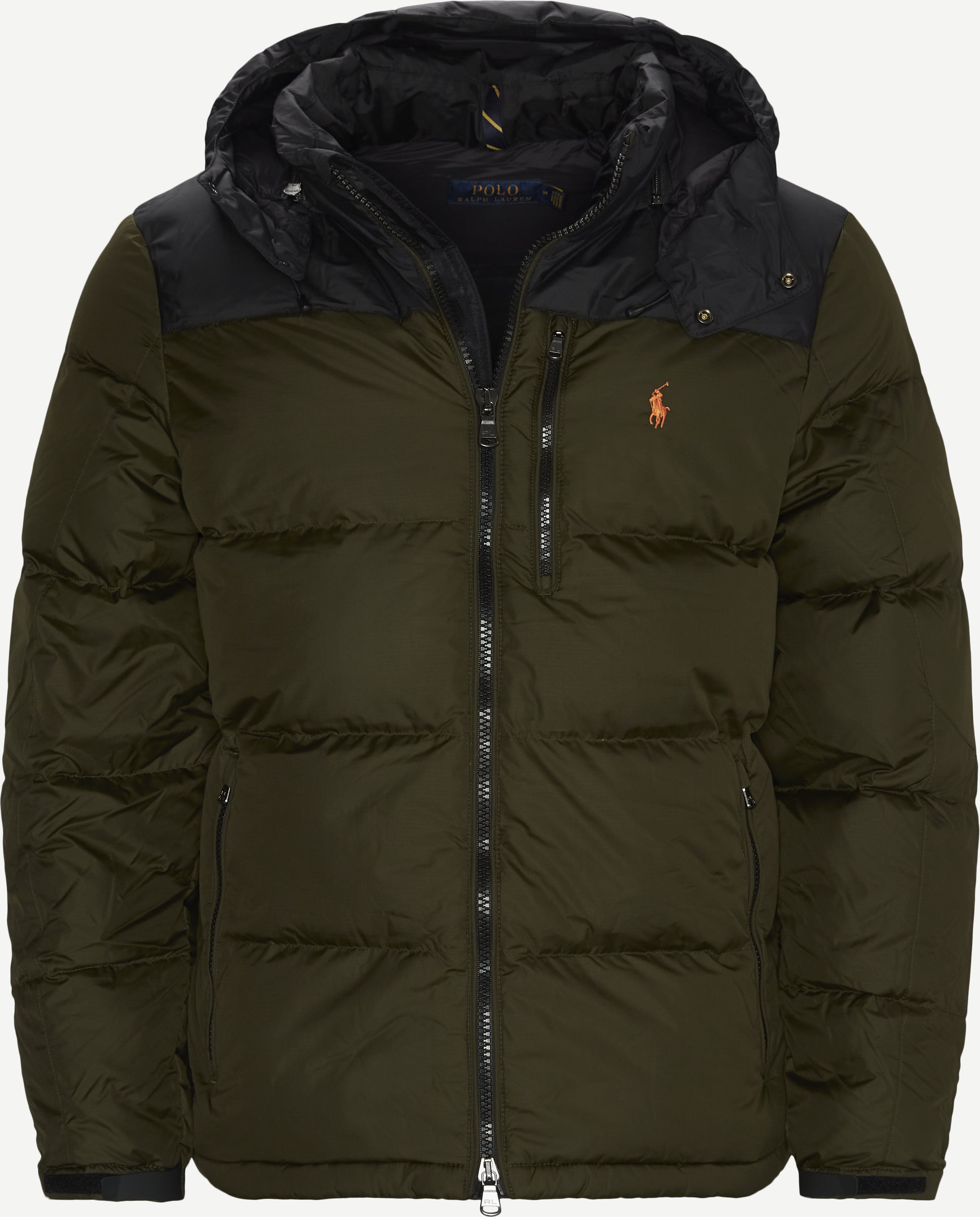 Logo Down Jacket - Jakker - Regular - Army