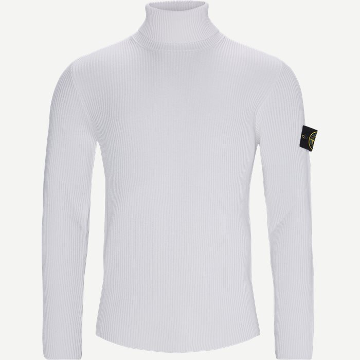 Logo Turtleneck - Strik - Regular - Hvid