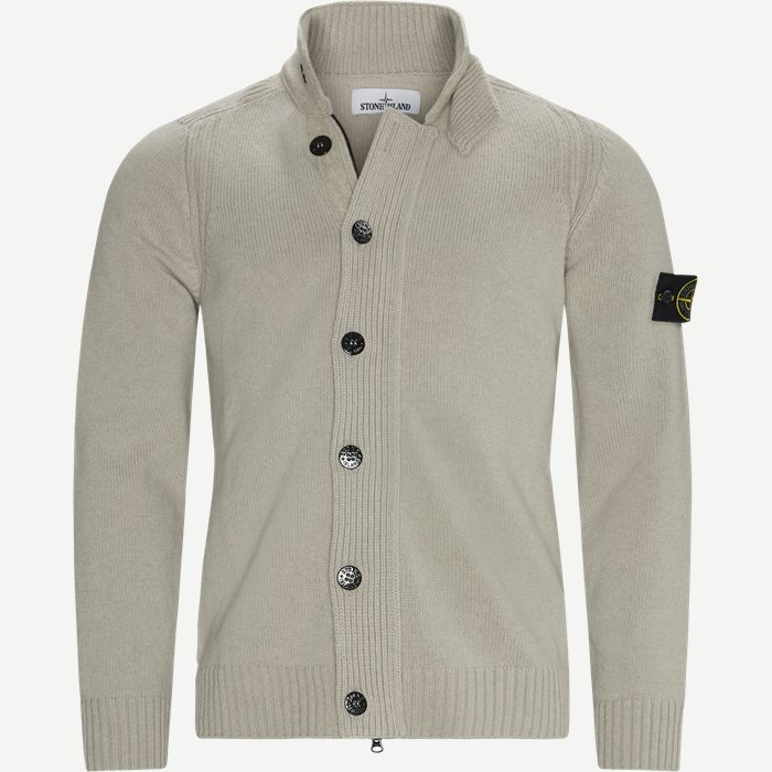 Logo Cardigan - Strik - Regular - Sand