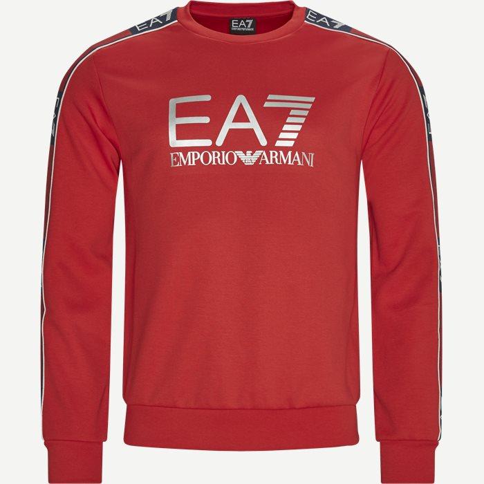 PJ3MZ Logo Sweatshirt - Sweatshirts - Regular - Rød