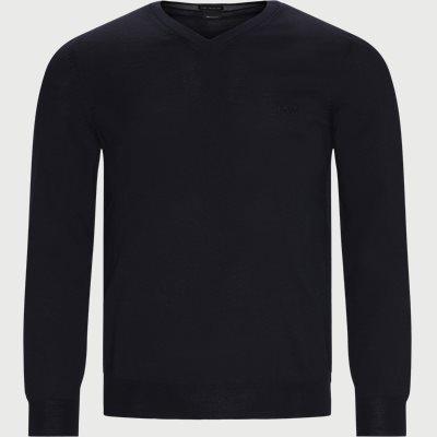 Baram-L Striktrøje Regular | Baram-L Striktrøje | Blå