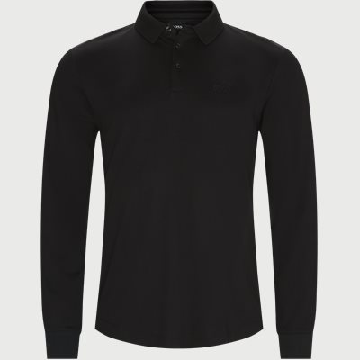 Pado 11 Langærmet Polo T-shirt Regular | Pado 11 Langærmet Polo T-shirt | Sort