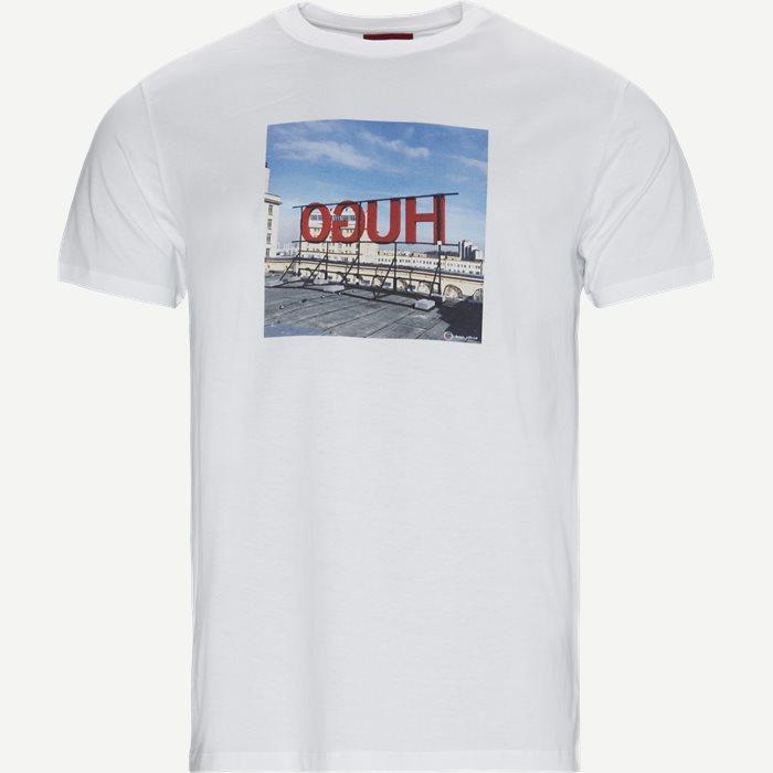 DUS T-shirt - T-shirts - Regular - Hvid