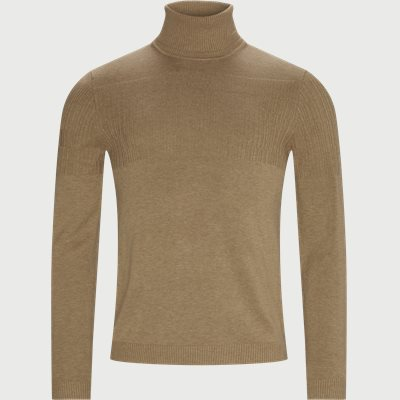 Siseon Rollneck Sweater Slim | Siseon Rollneck Sweater | Brun