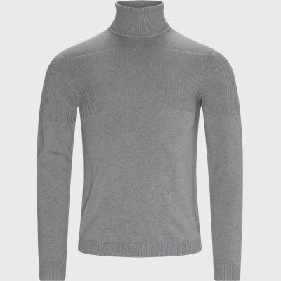 Siseon Rollneck Sweater Slim | Siseon Rollneck Sweater | Grå