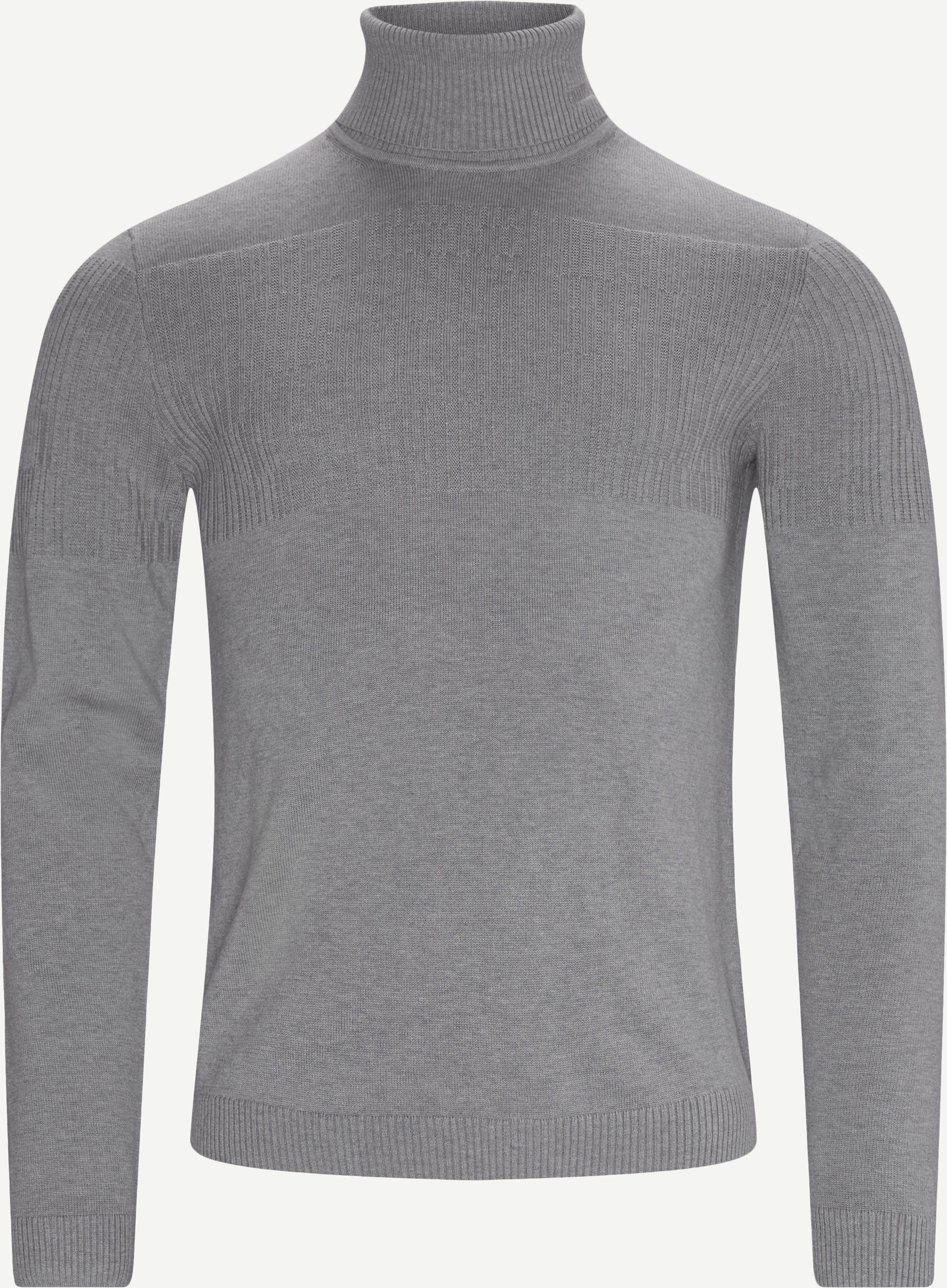 Siseon Rollneck Sweater - Stickat - Slim - Grå