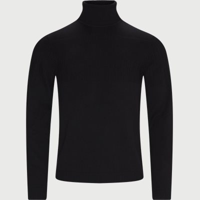 Siseon Rollneck Sweater Slim | Siseon Rollneck Sweater | Sort