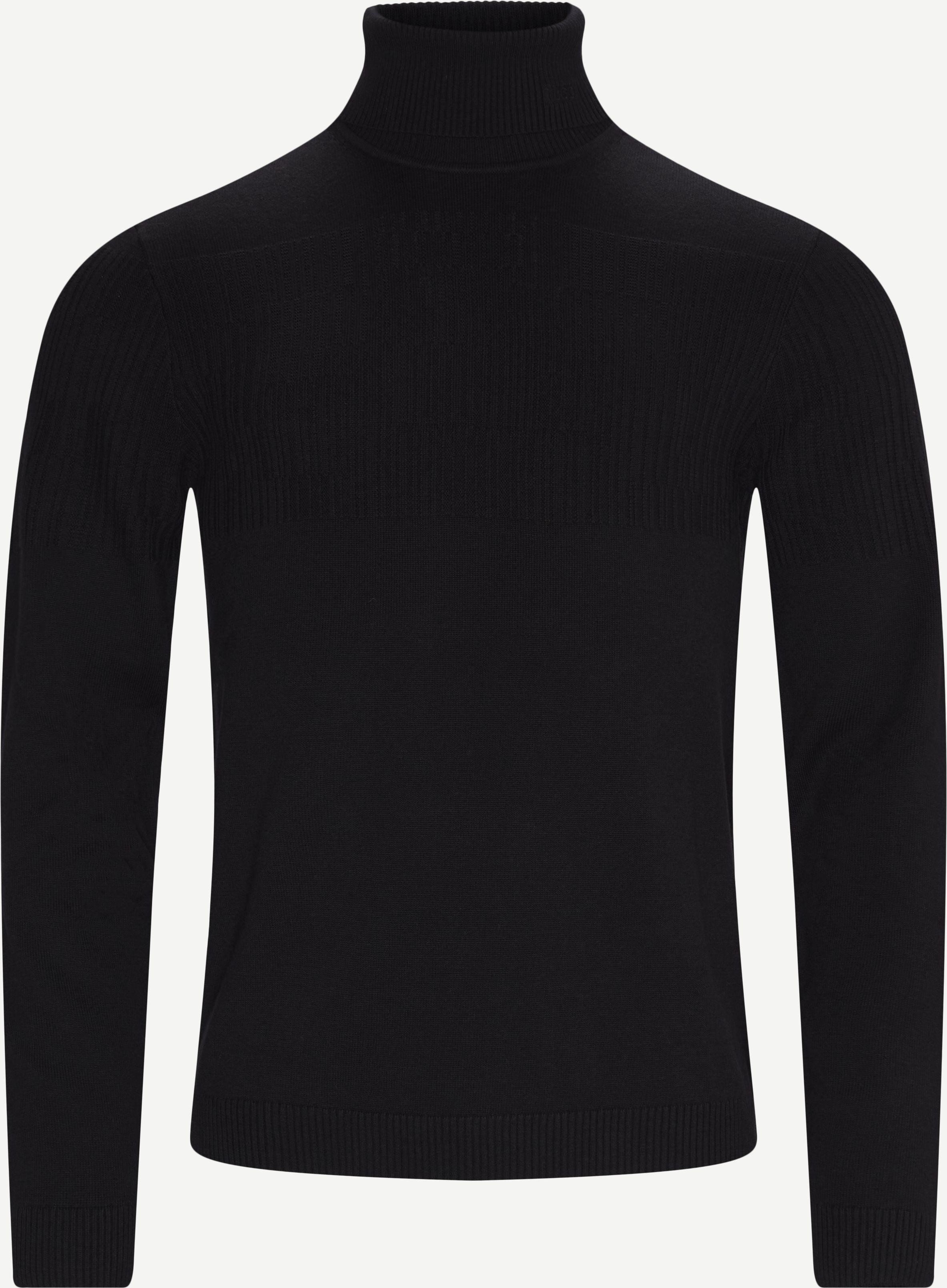 Siseon Rollneck Sweater - Stickat - Slim - Svart