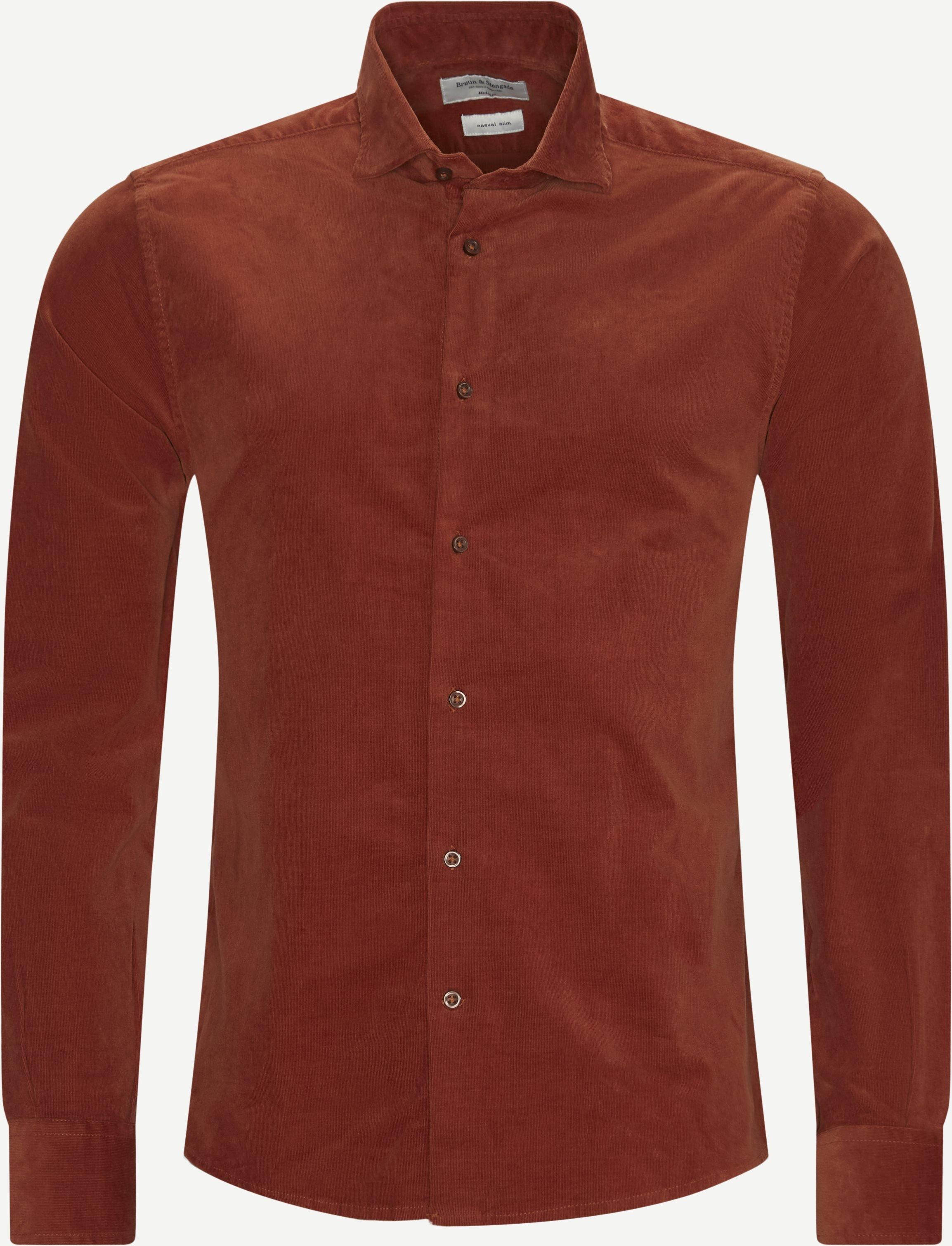 Kyoto Shirt - Skjortor - Regular slim fit - Orange