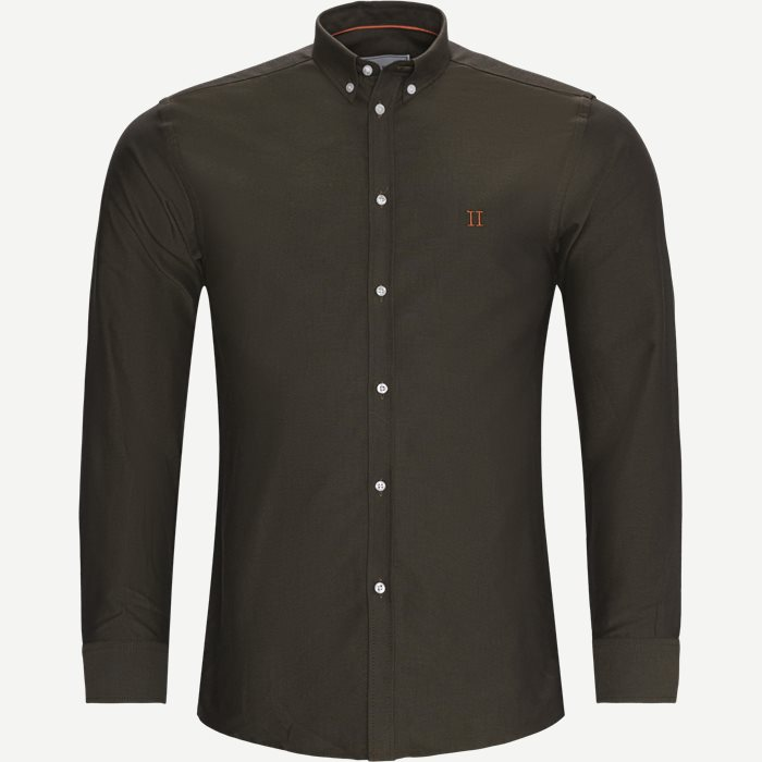 Oliver Oxford Shirt - Skjorter - Slim - Army