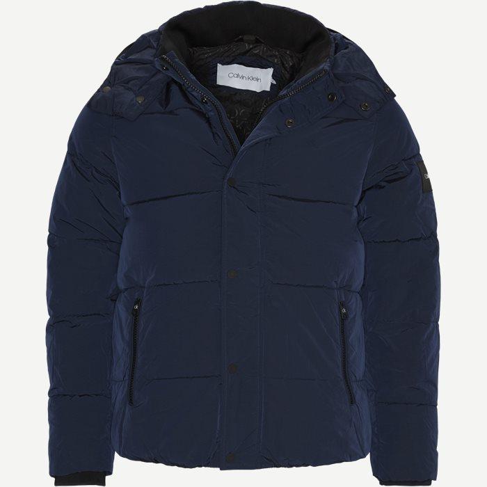 Crinkle Nylon Jacket - Jakker - Regular - Blå
