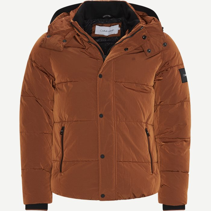 Crinkle Nylon Jacket - Jakker - Regular - Orange