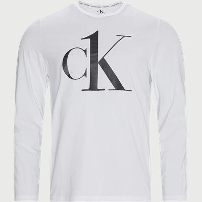 LS Crew Neck T-shirt Regular | LS Crew Neck T-shirt | Hvid