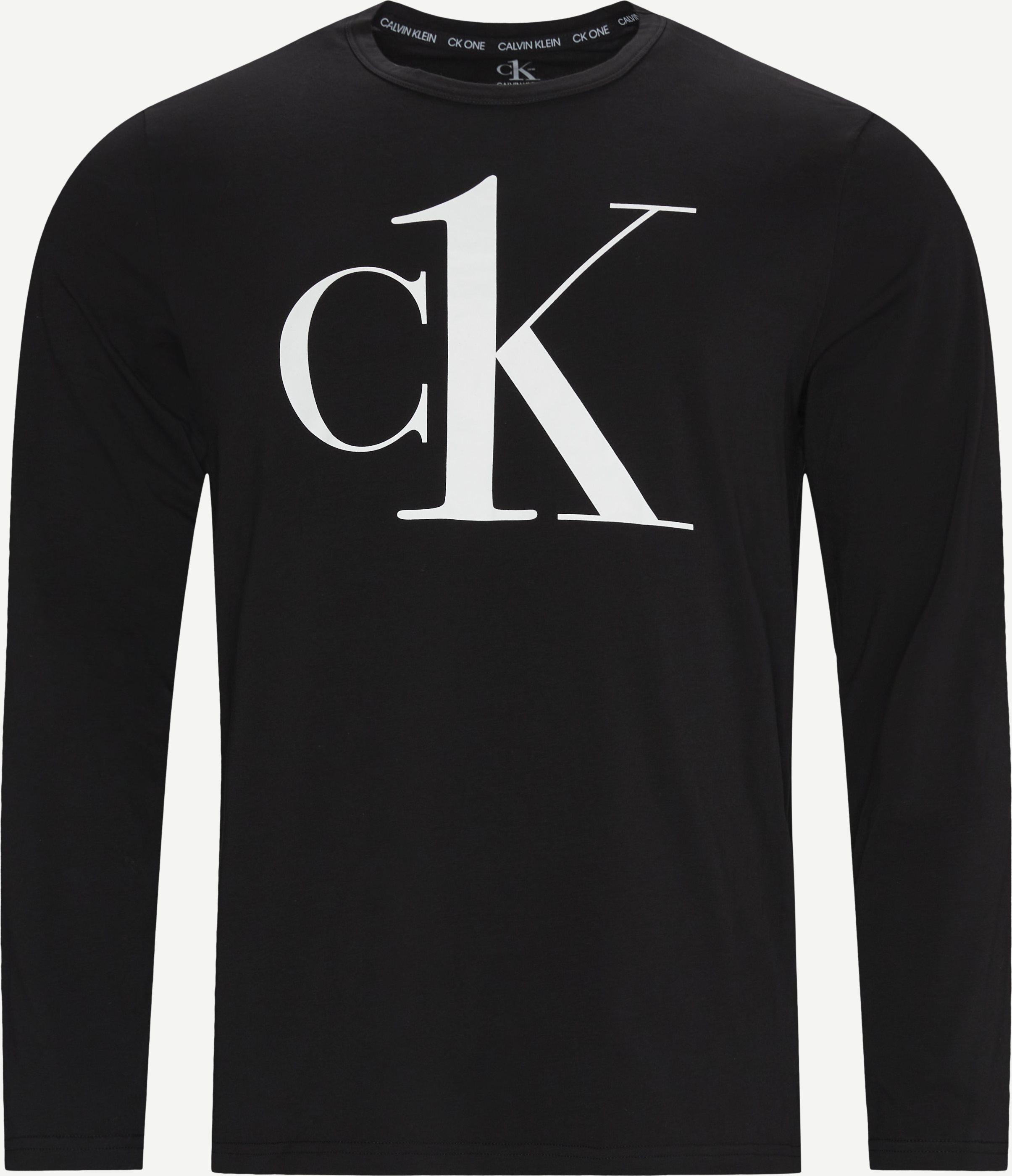 LS Crew Neck T-shirt - T-shirts - Regular - Svart