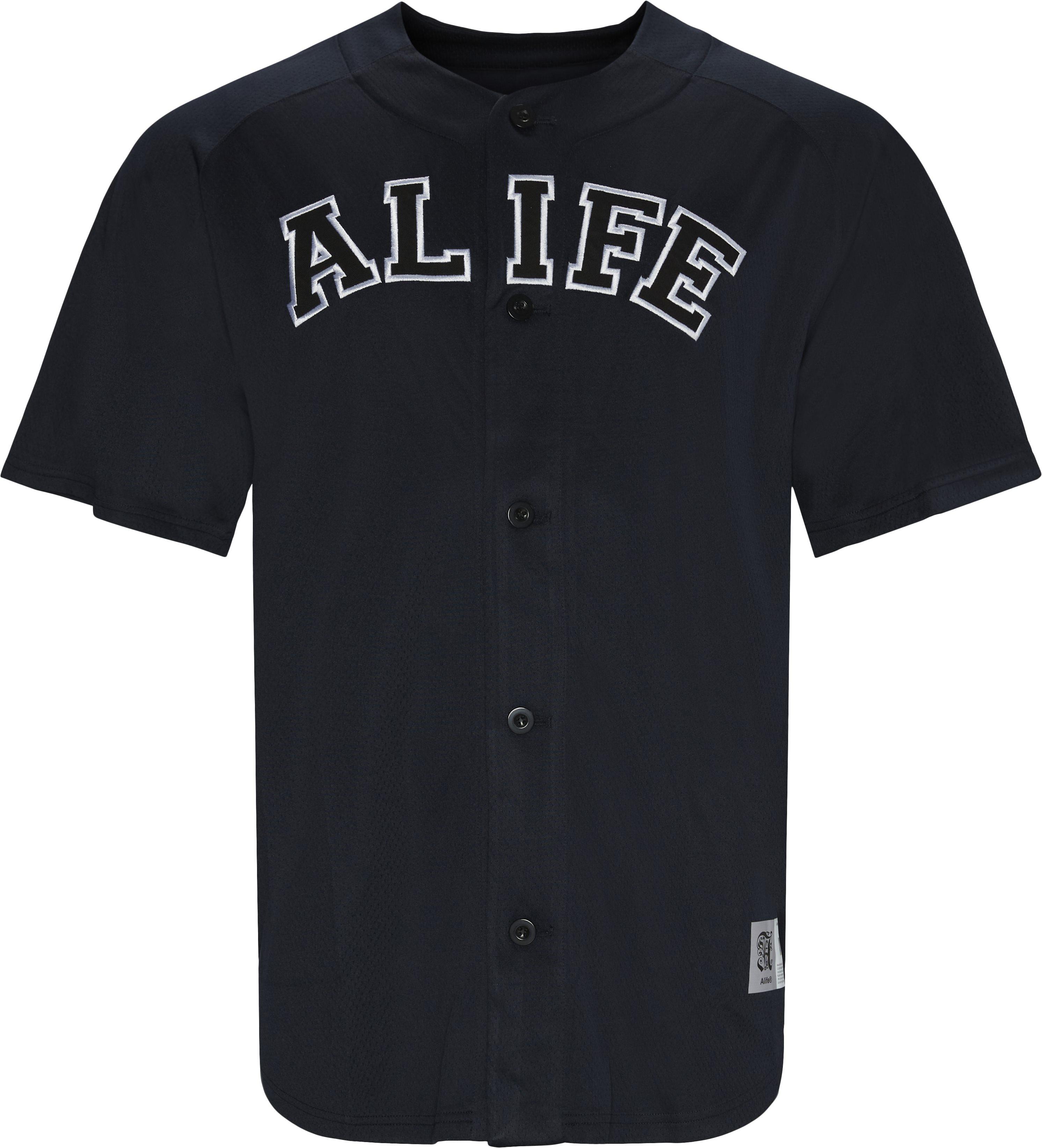 Baseball Mesh Tee - T-shirts - Regular - Blå