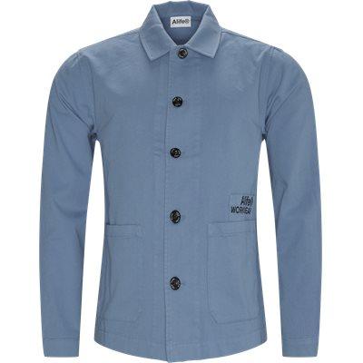Cropped Chore Jacket Regular | Cropped Chore Jacket | Blå