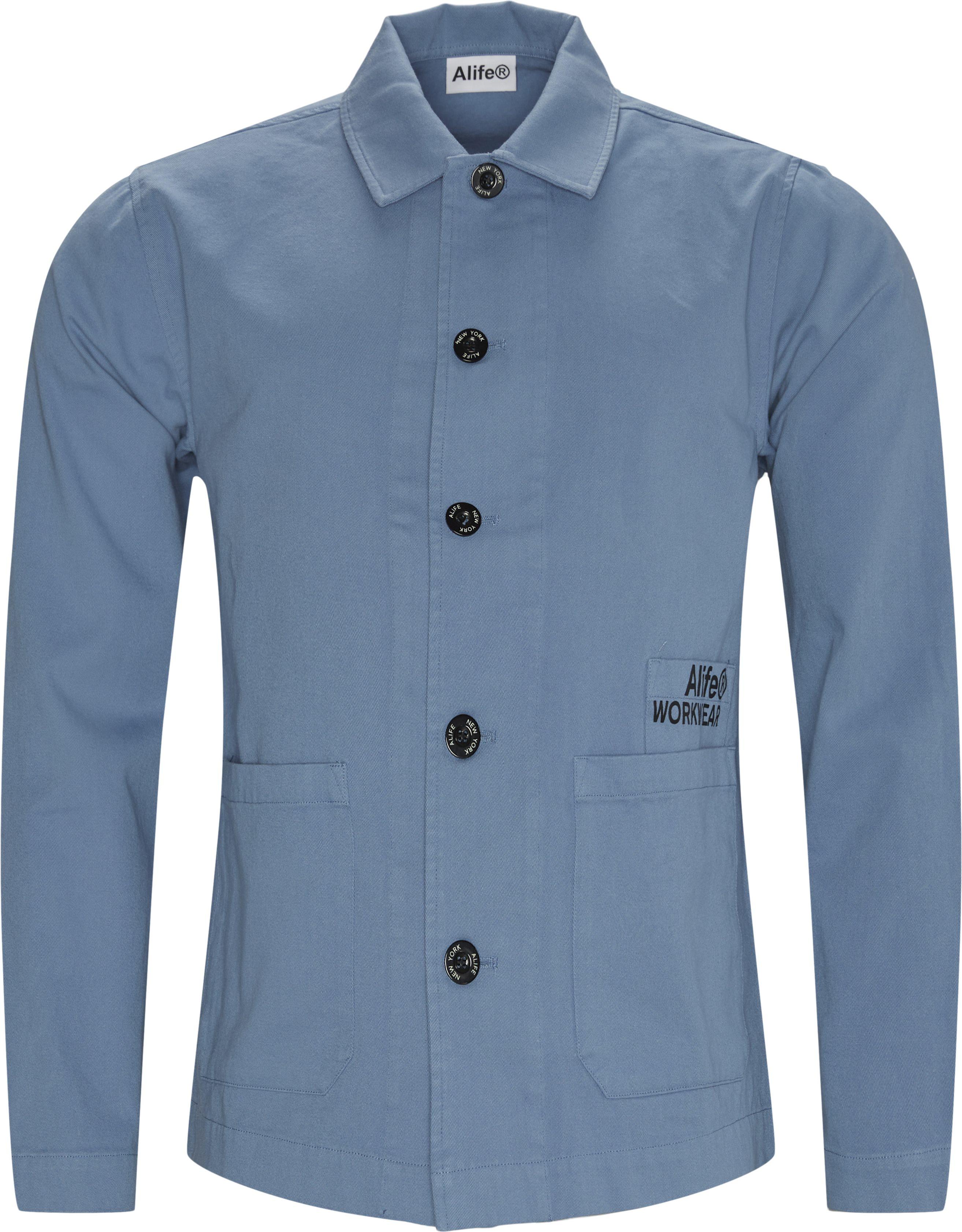 Cropped Chore Jacket - Jackets - Regular - Blue