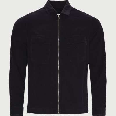 Corduroy Zip Overshirt Regular | Corduroy Zip Overshirt | Blå