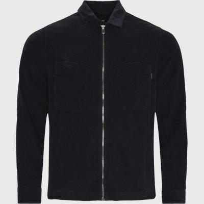 Corduroy Zip Overshirt Regular fit | Corduroy Zip Overshirt | Blå