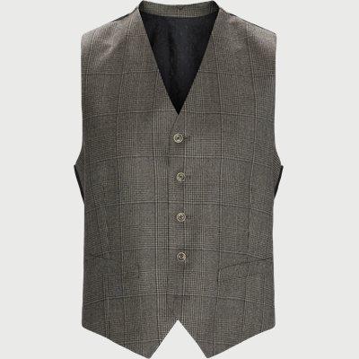 1691 Alford Vest Modern fit | 1691 Alford Vest | Brun