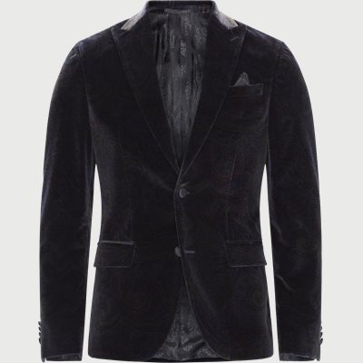 6602 Star Dandy Velour Blazer Modern fit | 6602 Star Dandy Velour Blazer | Blå