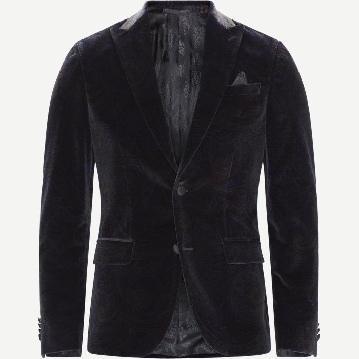 6602 Star Dandy Velour Blazer - Blazer - Modern fit - Blå