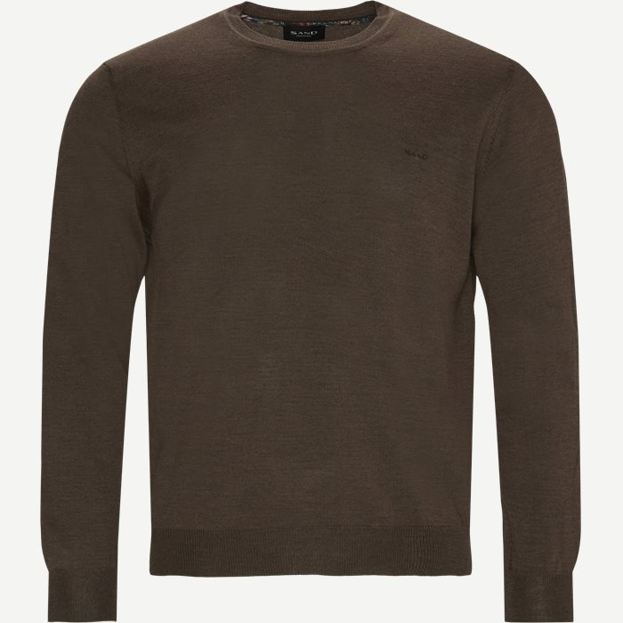 Merino Embroidery Darwin Striktrøje - Strik - Regular - Brun