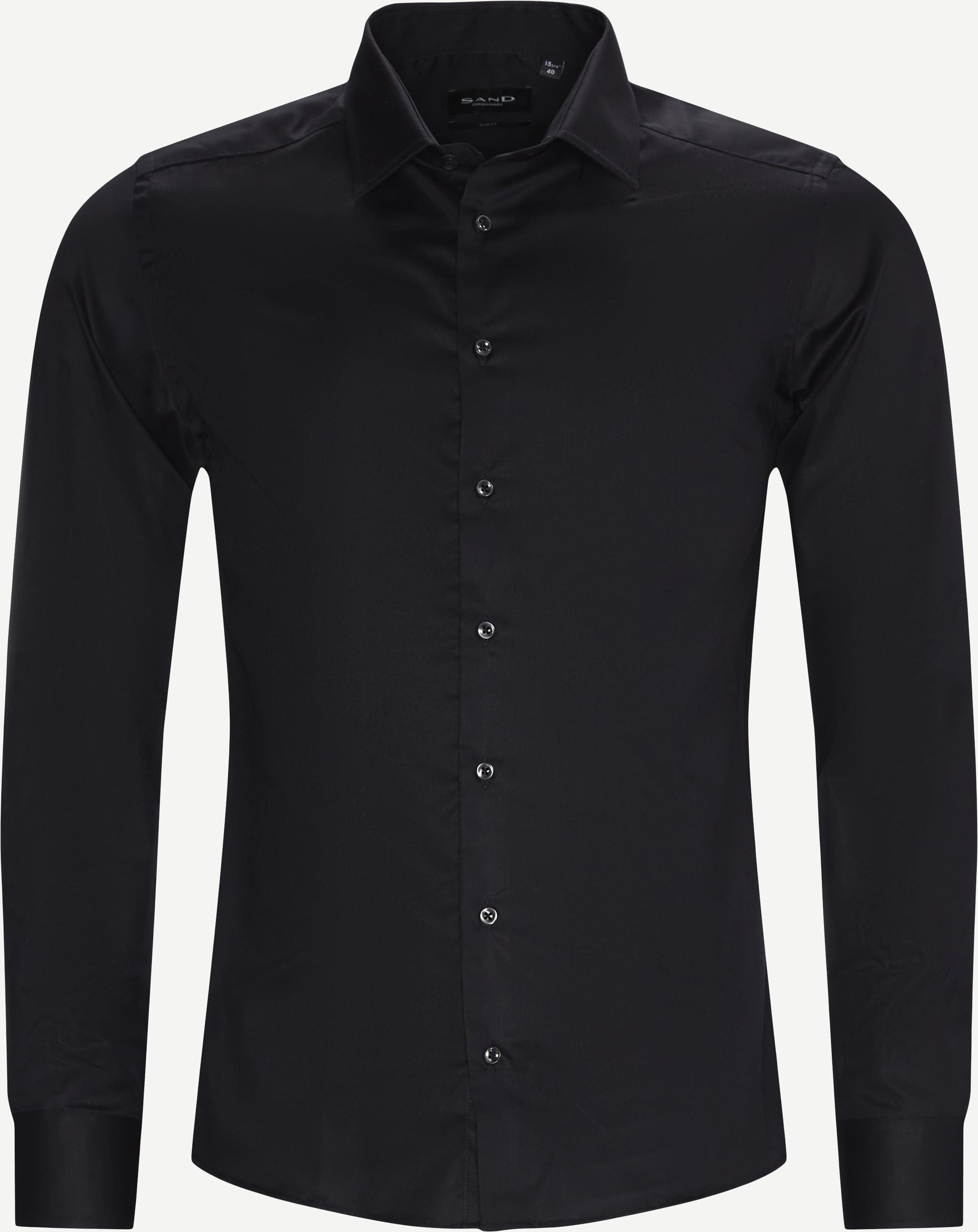 Royal Twill Stretch Iver 2/State N 2 Shirt - Shirts - Black