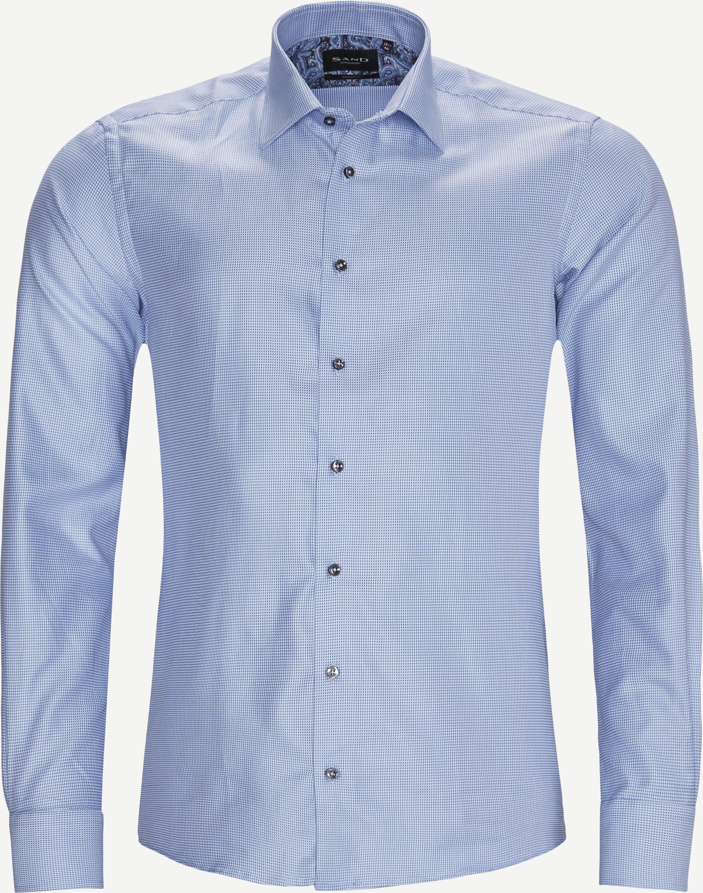 8725 Iver 2 Trim/State N 2 Trim Skjorte - Skjorter - Blå