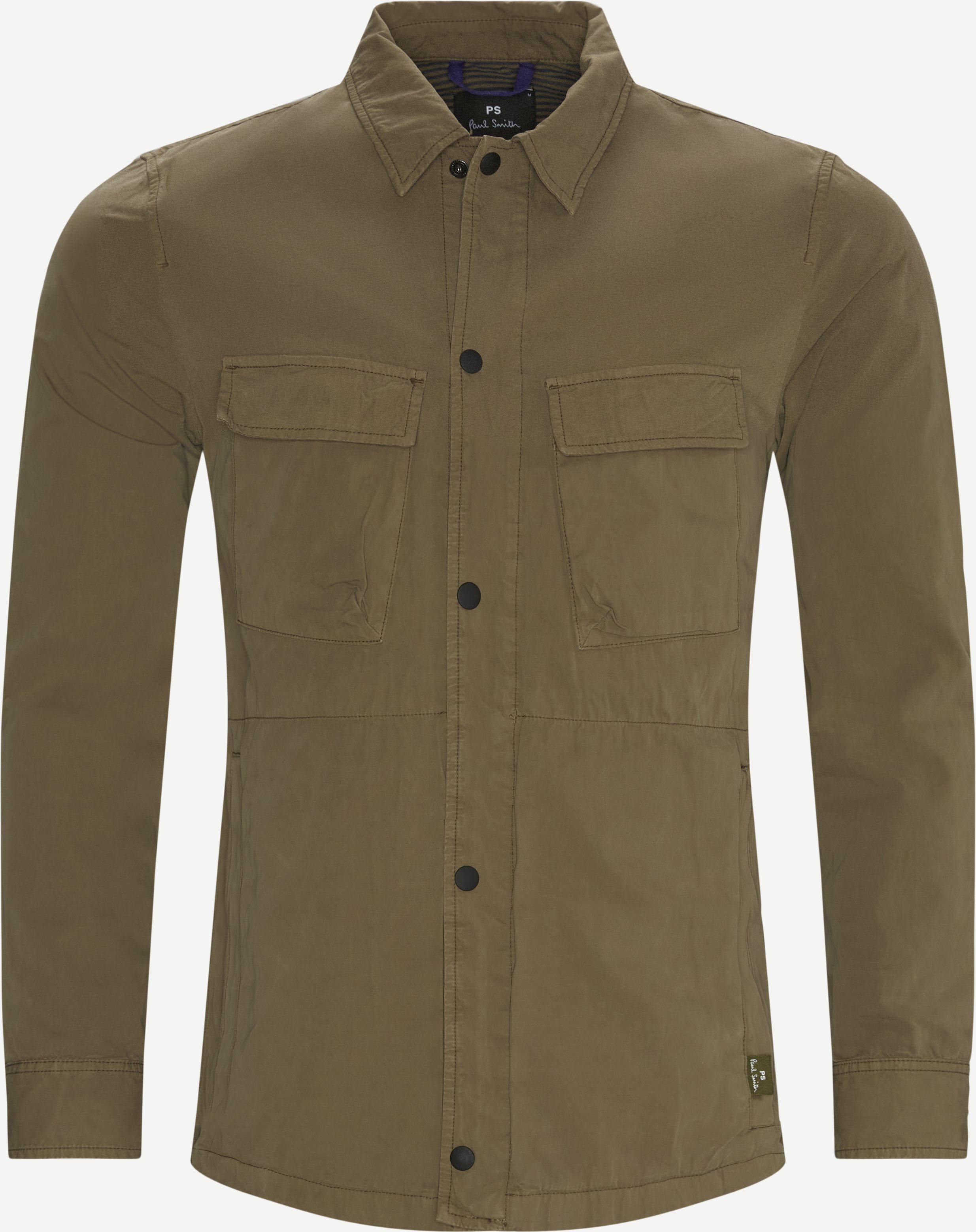 Snap Front Overshirt - Skjorter - Regular - Army