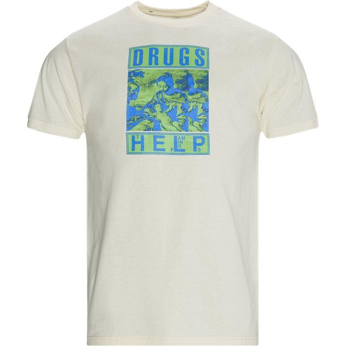 Drugs Tee - T-shirts - Regular - Sand