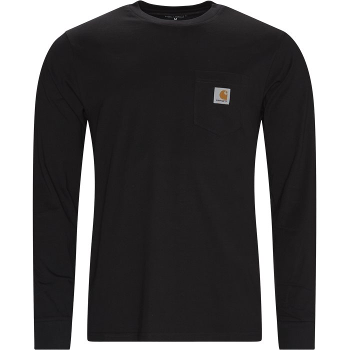 L/S Pocket T-shirt - T-shirts - Regular - Sort
