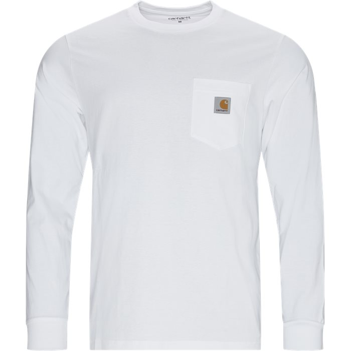 L/S Pocket T-shirt - T-shirts - Regular - Hvid