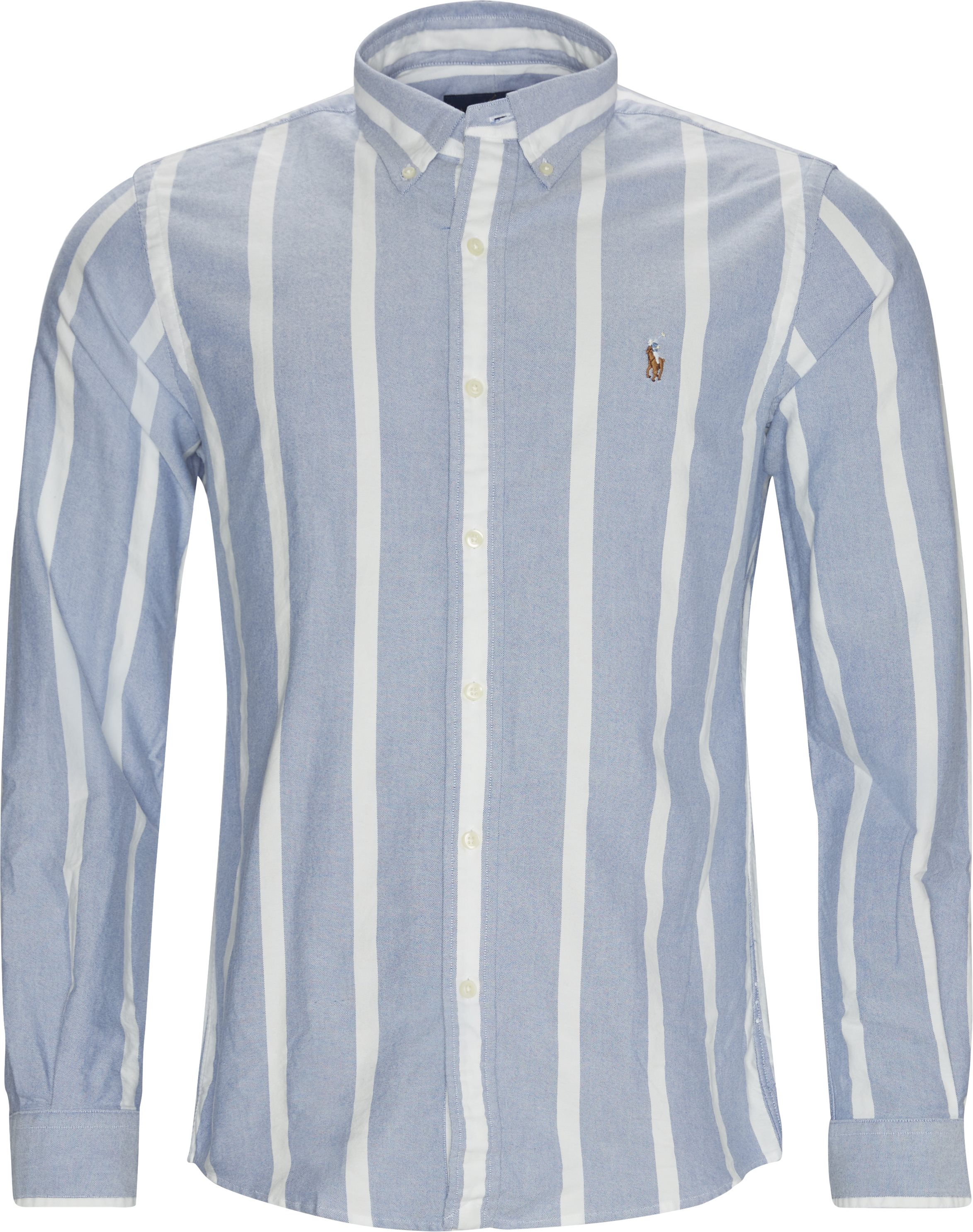 Striped Custom Fit Shirt - Skjortor - Custom fit - Blå