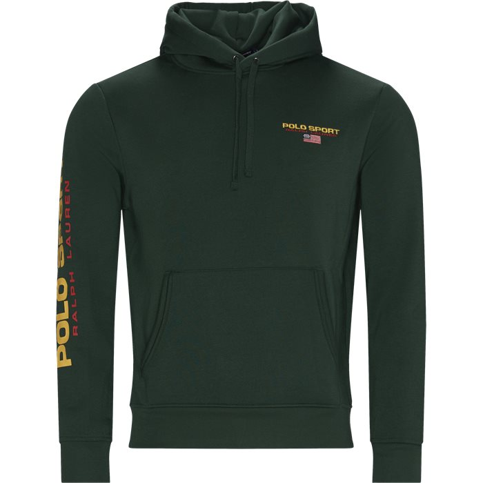 Sport Fleece Hoodie - Sweatshirts - Regular - Grøn