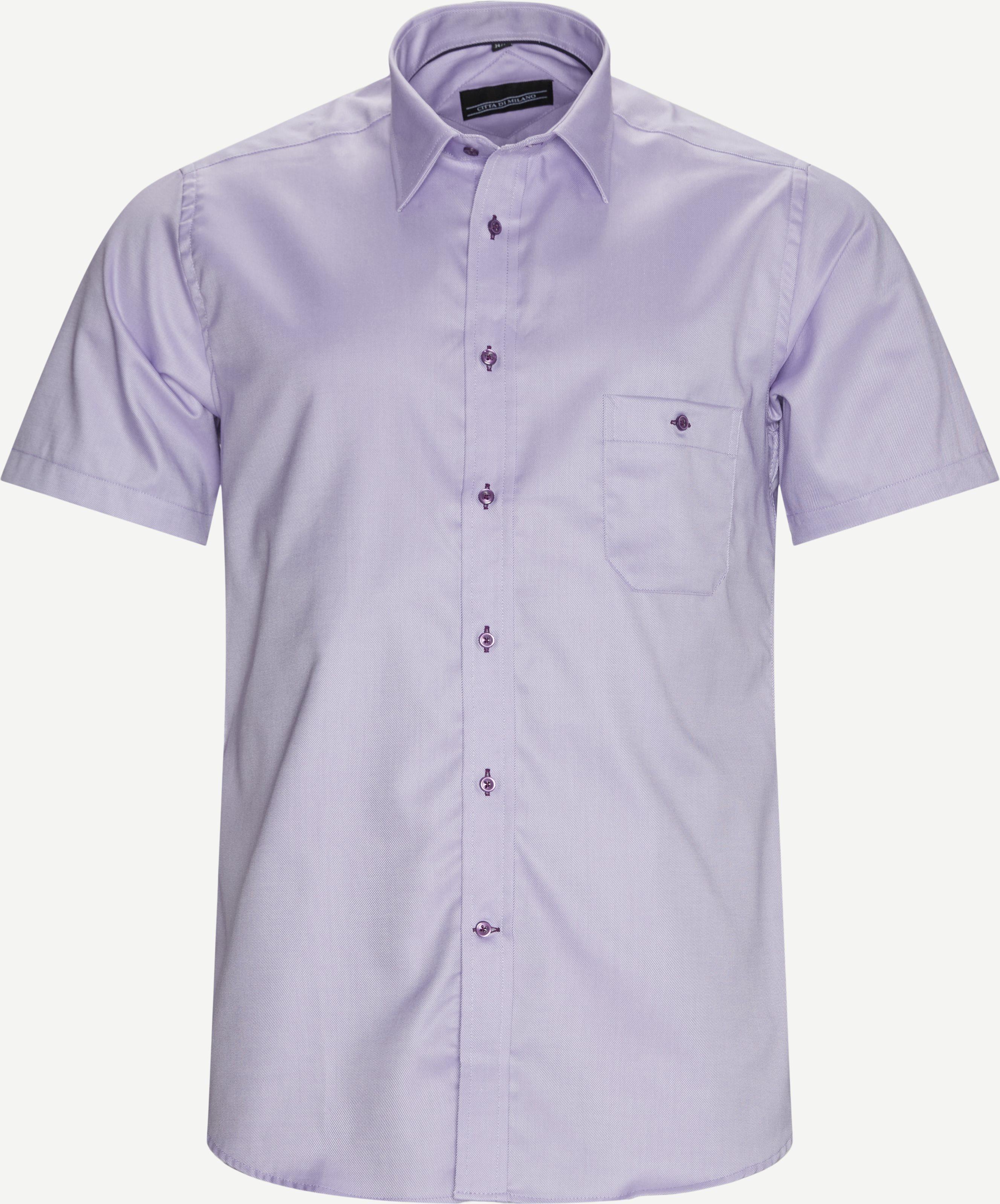 Kurzärmlige Hemden - Regular - Lila