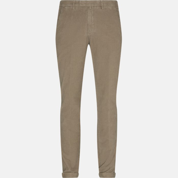 Trousers - Regular - Brown