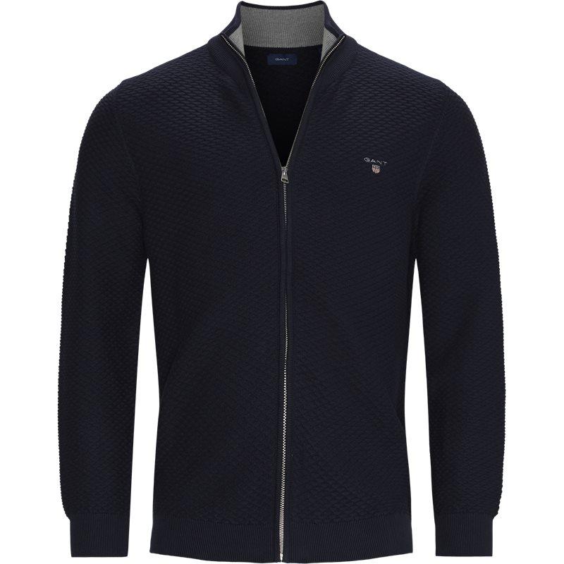 gant – Gant - triangle texture full zip cardigan på kaufmann.dk