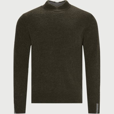Mousse Crew Neck Knit Regular | Mousse Crew Neck Knit | Army