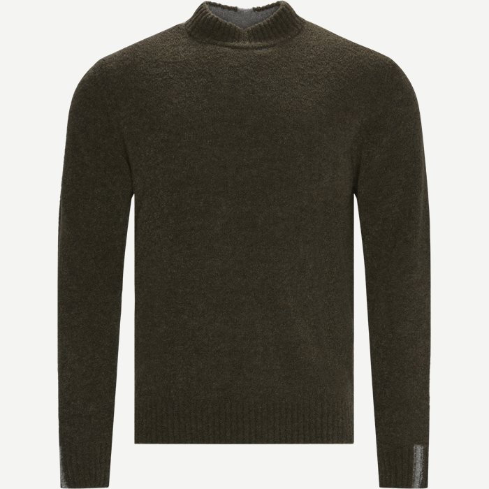 Mousse Crew Neck Knit - Strik - Regular - Army