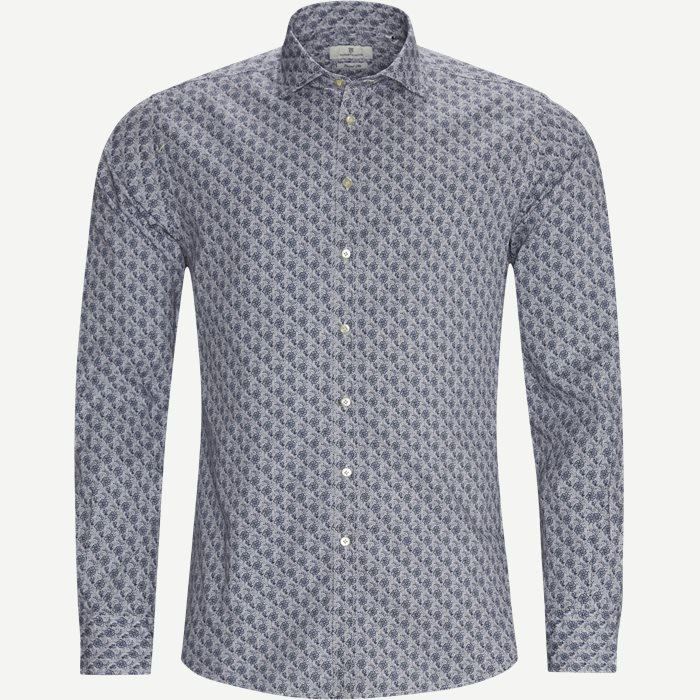 Propeller Wheel Print Skjorte - Skjorter - Casual fit - Grå