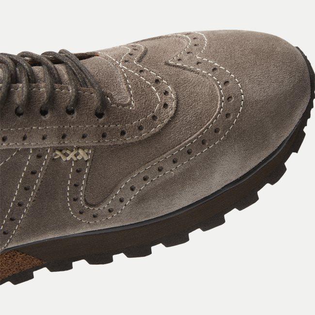 Suede Brogue Jogger Sneaker
