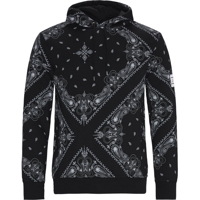 Brocade Hoodie - Sweatshirts - Regular - Sort