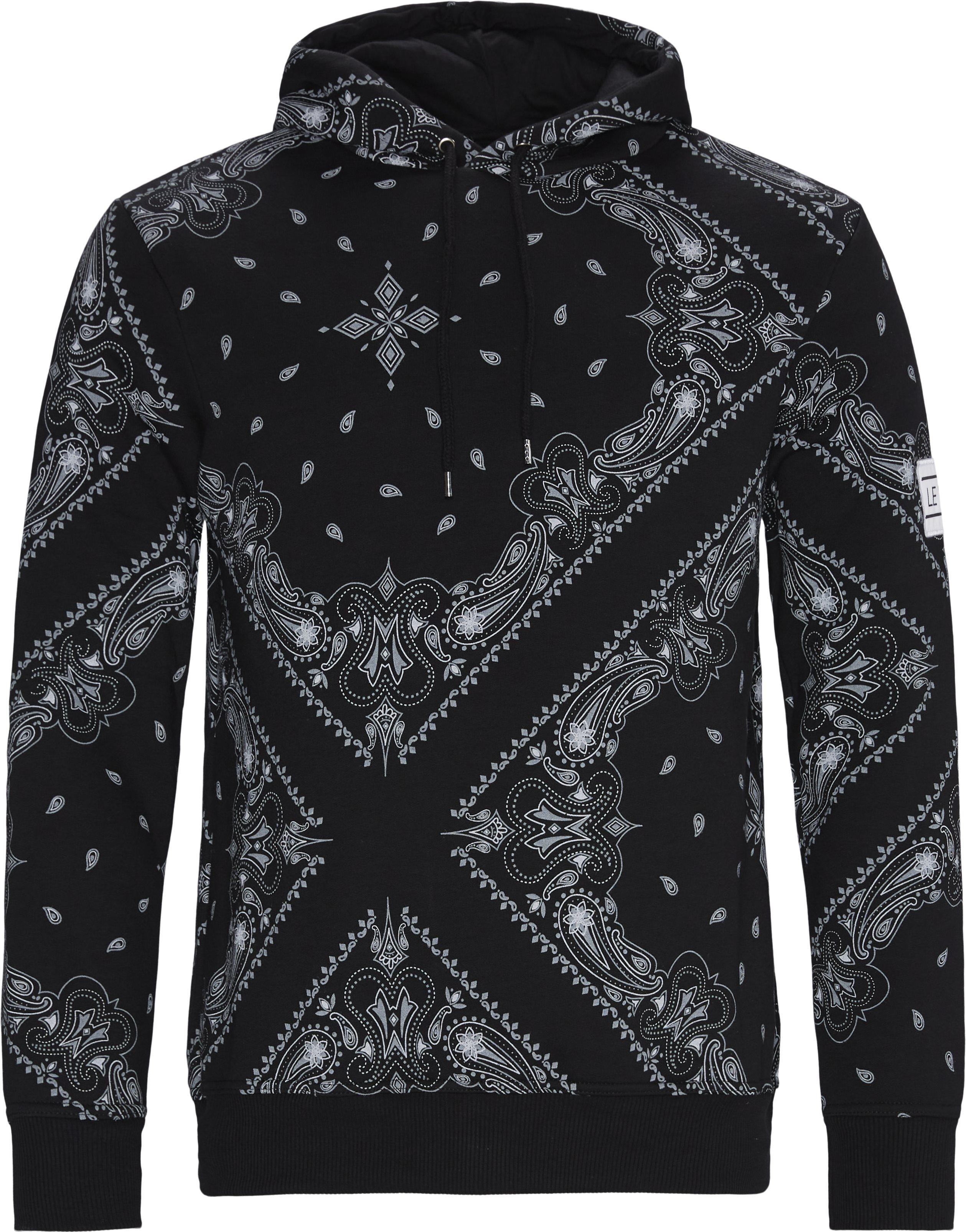 Brocade Hoodie - Sweatshirts - Regular - Black